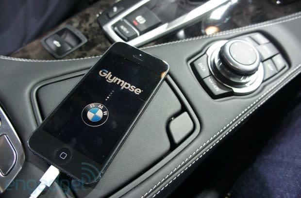 BMW announces compatibility with four new iOS apps, removable in-car LTE router, we go hands-on