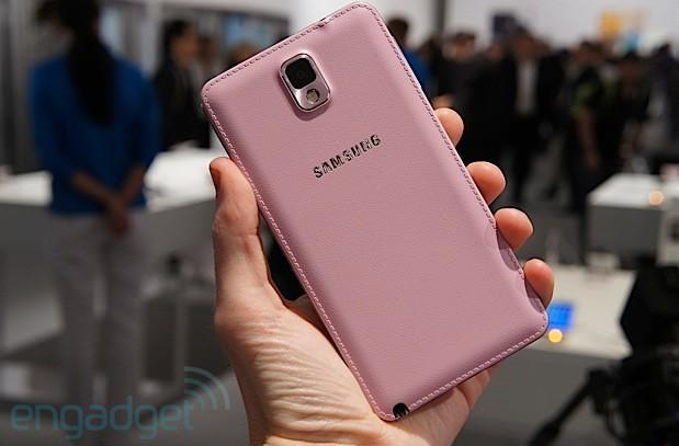 This is the pink Samsung Galaxy Note 3