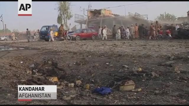Raw Video: Bomb targets Afghan police chief`