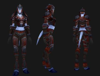 Outland reputation set- Warrior: Savage Plate Battlegear
