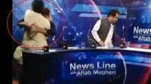 WATCH: TV debate in Pakistan turns into wrestling match as PTI leader rains blows on journalist
