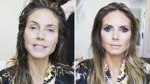 Krasser Vorher-nachher-Effekt: Heidi Klum zeigt Beauty-Verwandlung