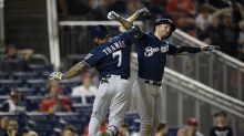 Four crazy moments from Saturday's 14-inning classic between the Brewers and Nationals