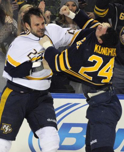 NHL suspends Sabres F Konopka 20 games