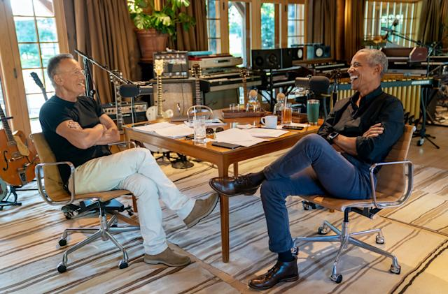 President Obama and Bruce Springsteen debut podcast on Spotify