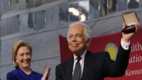Clinton Honors Ralph Lauren at Ceremony