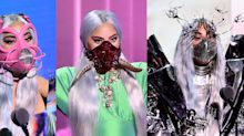 Lady Gaga's VMA face-forward fashion statements: 'Wear a mask. It's a sign of respect.'
