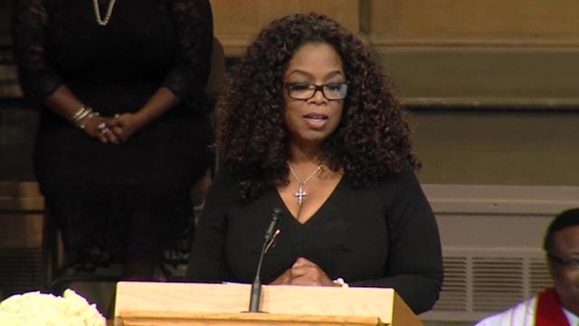Words of deep respect at Maya Angelou's memorial