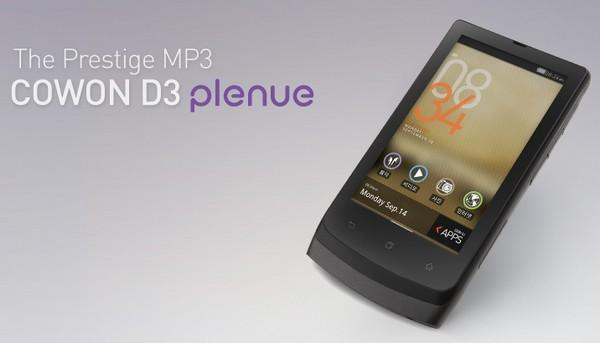 Cowon D3 Plenue: Android PMP mit Handy-Anmutung