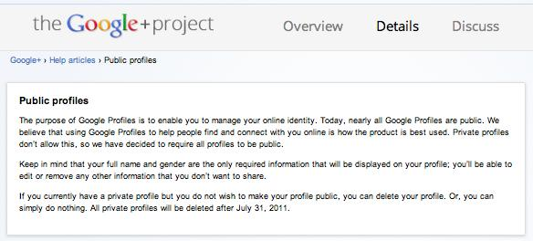 Google+ to require that profiles be visible to all, will boot private profiles after July 31st