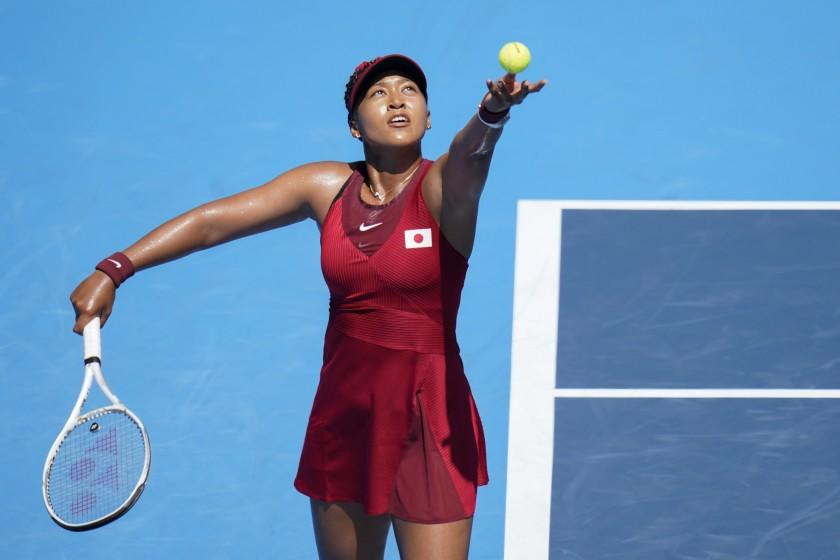 Image Naomi Osaka wins first-round match at Olympics, then breaks her silence with media