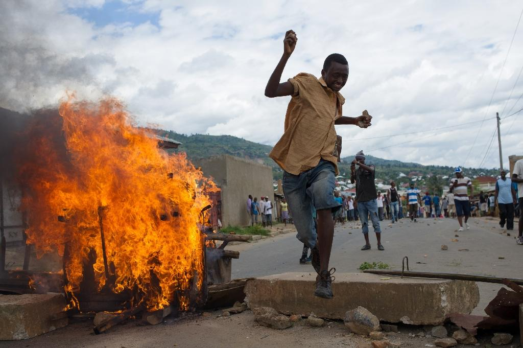 There have been deadly demonstrations in Burundi over a third term bid by the country's President Pierre Nkurunziza (AFP Photo/Phil Moore)