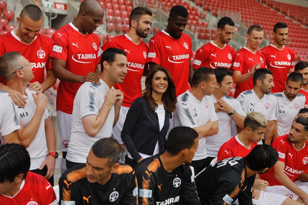 Alona Barkat is a uniquein Israel, being the country's only woman football team owner (AFP Photo/MENAHEM KAHANA)