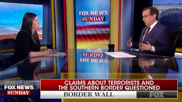 Fox News' Chris Wallace Shreds Sarah Huckabee Sanders Over Border Terror Claims
