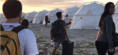 At the Fyre Festival. (Everett Collection)