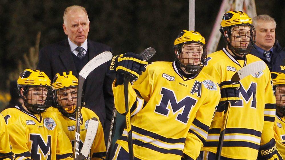 Red Berenson retiring as Michigan hockey coach after 33 seasons