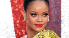 Rihanna Looks Like a Golden Goddess in Metallic Dress & Matching Stilettos for 'Ocean's 8' Red Carpet