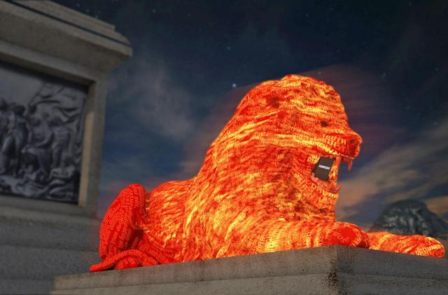 Google's Trafalgar Square lion uses AI to generate crowdsourced poem