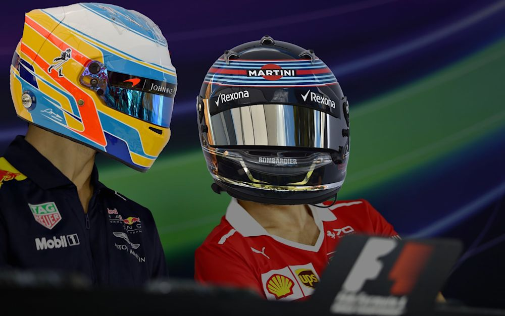 Who is who? Can you sort out our F1 helmet mix-up? - 2017 Getty Images