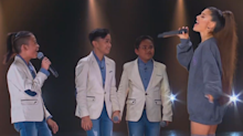 Ariana Grande joins TNT Boys to celebrate historic Billboard achievement