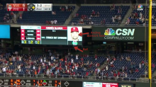 Phillies' Andres Blanco hit a homer off his own face