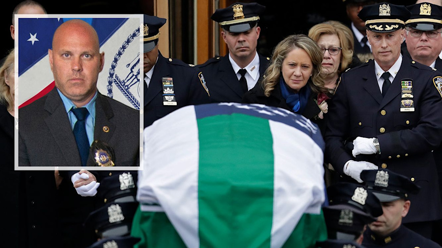 Officers mourn NYPD cop slain by friendly fire