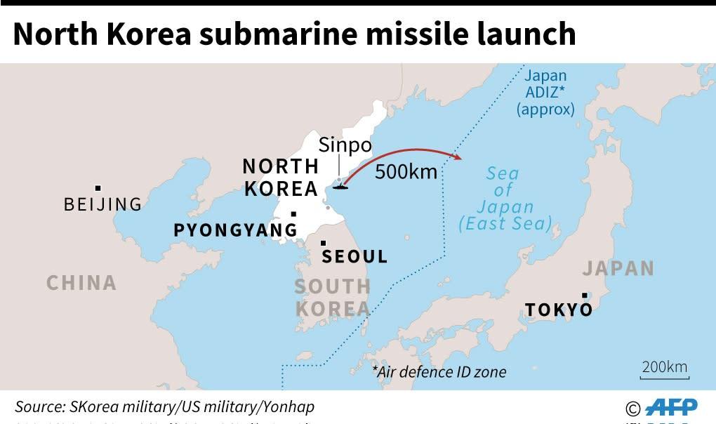North Korea missile test (AFP Photo/Laurence CHU)