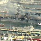 Fire Continues to Ravage Navy Assault Ship for Second Day