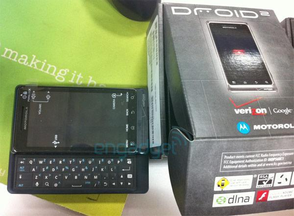 Motorola's Droid 2 in the wild, looking as blue as ever