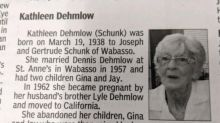 'She will not be missed': Woman's abandoned children get the last word in savage obituary