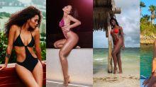 Inverno para quem? Essas famosas estão arrasando na moda praia!