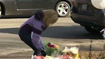 Raw: Flowers Brought to School Shooting Site