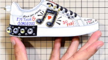 Dolce & Gabbana Sneaker Graffiti Brags 'I'm Thin & Gorgeous'
