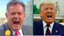 Piers Morgan addresses DIY makeup fail on Good Morning Britain saying he looks like a 'tangerine'