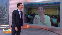 """César Tralli já se despede de Sandra Annemberg no 'Jornal Hoje': """"Estou com saudade"""""""