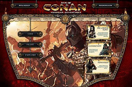 Age of Conan updates its official website