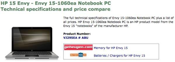 HP Envy 15 spotted, looking pretty real