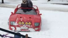 Ferrari F40 proves snow is not just for SUVs