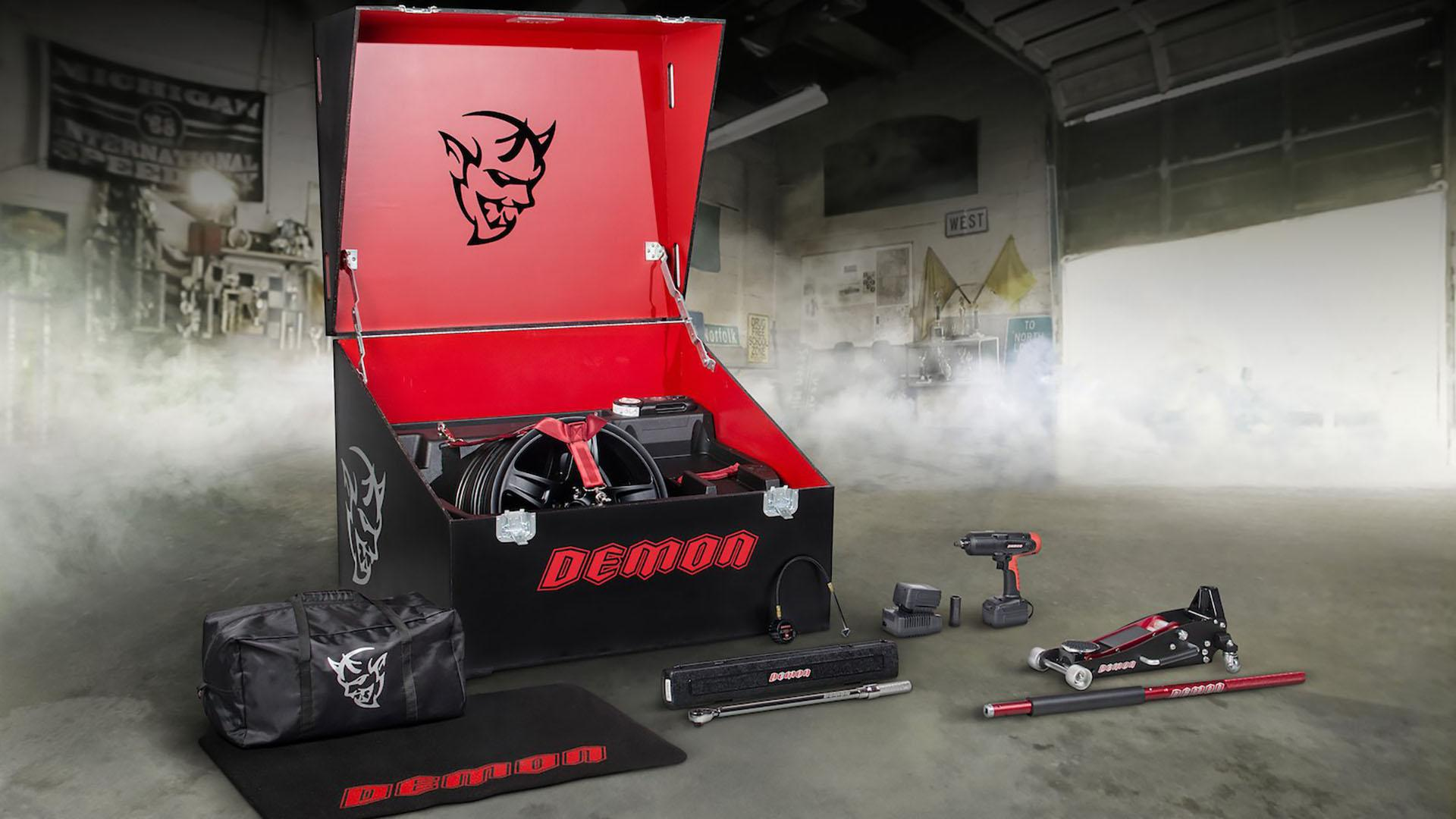 Dodge Challenger SRT Demon Crate Holds Tools to Prep for the Track