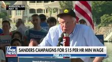 Bernie Sanders' campaign staff demanding a 'living wage' and health care