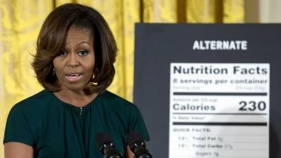 First Lady Announces Changes to Nutrition Labels