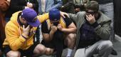 Los Angeles Lakers fans mourn Kobe Bryant outside Staples Center prior on Jan. 26. (AP)