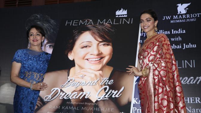 Deepika Padukone launches Hema Malini's biography 'Beyond The Dream Girl'