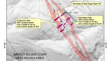 IMPACT Silver Samples 205.7 g/t Silver over 22.7 Meters Width Along Length of 50 Meters at Veta Negra Open Pit; Veins Traced over 650 Meters Length