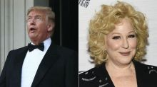 Donald Trump slams Bette Midler as a 'washed up psycho' in late night tweet