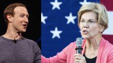 """Il duro affondo di Zuckerberg aWarren: """"È una minaccia. Se eletta si va ai materassi"""""""