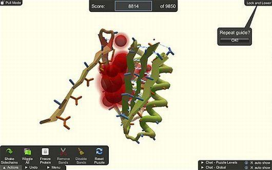Online gamers solve microbiology puzzle, contribute to anti-HIV solutions