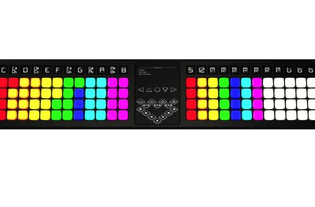 TheoryBoard is a MIDI controller that teaches you music theory