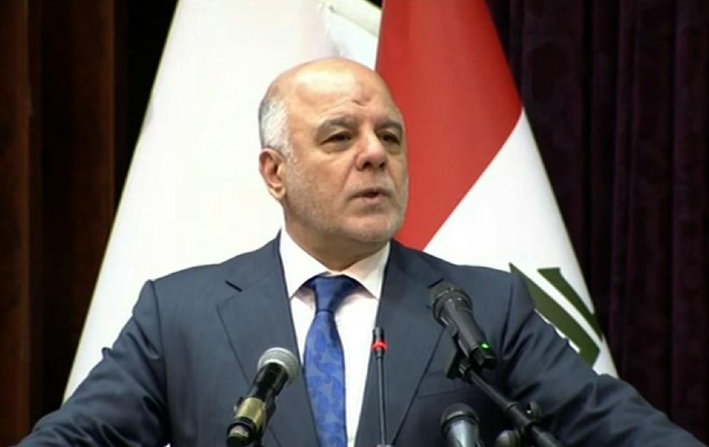 """Iraqi Prime Minister Haider al-Abadi declares """"the end of the war"""" in Iraq against the Islamic State jihadist group (AFP Photo/Handout)"""