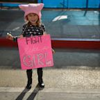 Pussy hat, back: At the 2018 Women's Marches, pink, again, is the call to arms